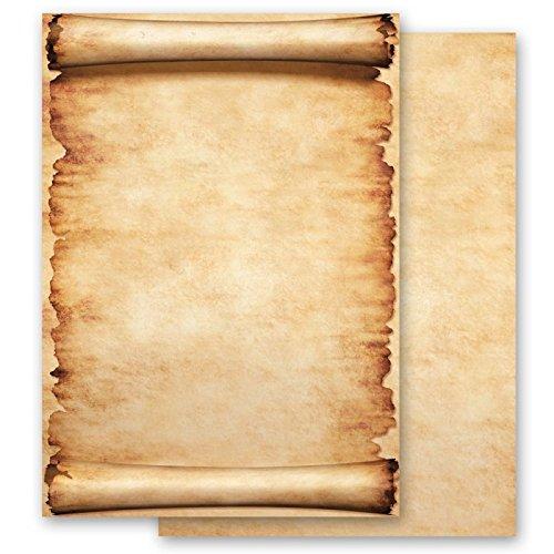 Carta da lettera decorati pergamena 100 fogli formato din a6