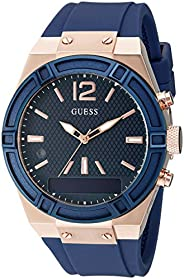 Guess Womens Analogue-Digital Quartz Watch with Silicone Strap C0002M1