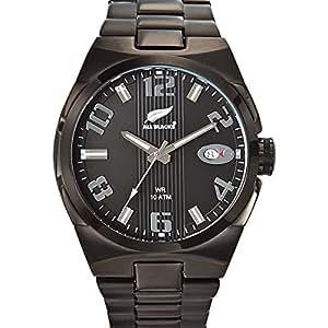 All Blacks - 680045 - Montre Homme - Quartz Analogique - Cadran Noir - Bracelet Acier Noir