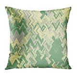 Aoliaoyudonggha Zippered Pillowcases Retro Vintage Chevron Zig Zag Waves Stripes Pattern Colorful Tribal Geometric Ethnic Traditional Custom Square Size 18 x 18 Inches Home Decor Cushion Pillow Cover