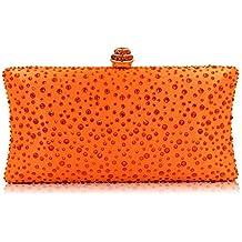 4f1133d2b HKDUC Bolso De Embrague De Color Naranja Bolso De Fiesta De Diamantes De  Imitación Bolso De