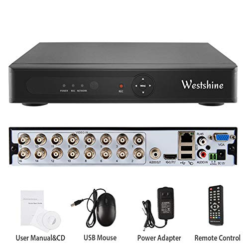Westshine 16-Kanal 1080N Digitaler Videorekorder H.264 CCTV Netzwerk DVR NVR HDMI Video Wiedergabe für (16 Kanal Cctv-stromversorgung)
