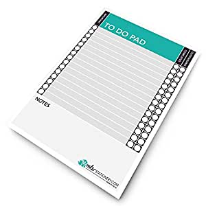 Monster Stationery - A5 to Do Pad/Daily Schedule Planner/Desk Pad - 60 Sheets - 80gsm - Made in UK