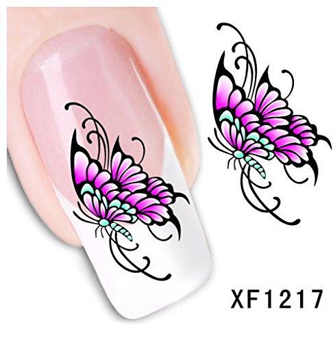 Stickers Pour Ongles avec des Fleurs - Fleur - XF1217 Nail Sticker Tattoo - FashionLife