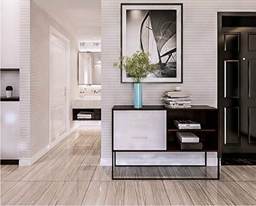 qingci Gray Vertical Striped Wallpaper Schwarz-Weiß-Konzept-Horizontale Streifen-Tapetenrolle Für Wohnzimmer-Schlafzimmer-Büro10*53cm - Horizontale Textur Wallpaper