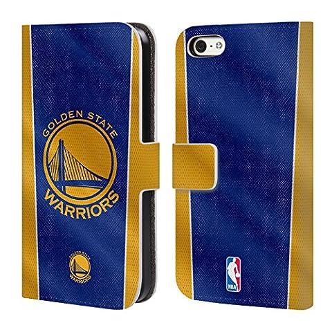 Officiel Nba Bannière Golden State Warriors Étui Coque De Livre En Cuir Pour Apple iPhone 5c