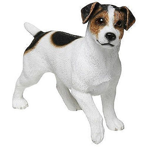 Leonardo Collection Jack Russell Terrier Ornament Dog, Stone, White, 13 x 4 x 11 cm