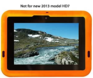 Bobj Rugged Case for 2nd Gen Kindle Fire HD 7 - BobjGear Protective Tablet Cover - Outrageous Orange