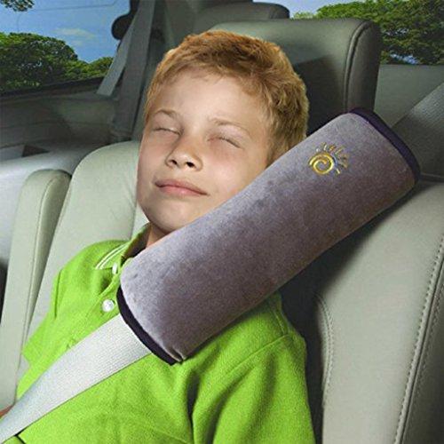 Vine Kinder Auto sicherheits Schulterkissen Sicherheitsgurt Polster kinder,Schlafkissen,Kinderautositze Abdeckung,Baby Reisekissen, Autositzkissen?Grau?
