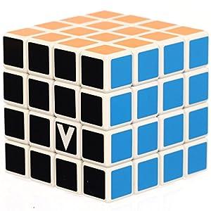 Verdes- 4 x 4 x 4 Rompecabezas Giratorio del Cubo de la Velocidad, Color Blanco (25115)