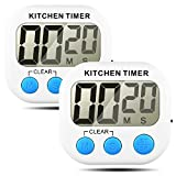 Timer da cucina, Senhai conteggio up / down grande Display LCD elettronico Timer Memoria-2 Pack