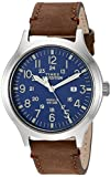 Timex TW4B06400 Expedition Brown & Blue Leather Strap Men's Watch