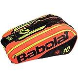 Babolat Racket Holder X 12 Pure Decima RG/FO Tennis Kit Bag (Black Red Yellow)