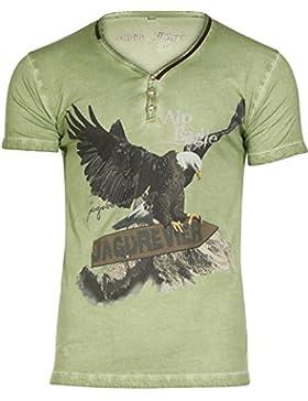 Michaelax-Fashion-Trade Marjo - Herren Trachten T-Shirt, M02 Alpeagle (669900-020039)