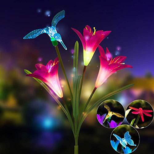 Mitlfuny Weihnachten Home TüR Dekoration 2019,Lily Flower Solarbetriebenes -