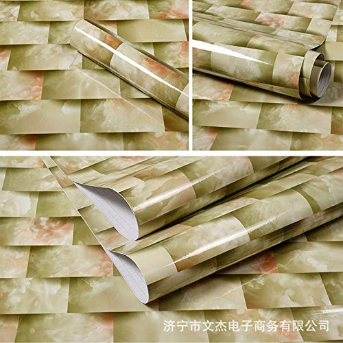 Abba Öl (lsaiyy Imitation Marmor Muster Aufkleber wasserdicht Selbstklebende Tapete Küche Öl Tisch Esstisch Schranktür Renovierung Tapete tile-60CMX5M)