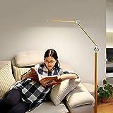 CRR Stehlampe, Wohnzimmer-Schlafzimmer-Studie Führte Augen-Schutz-Fernbedienung Vertikale 12W energiesparende LDE-Lichtquelle 5 Gelb-Weißes Licht 5 Helligkeits-Anpassung