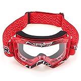 YONGYAO Niños Moto Cross Racing Casco Gafas Gafas Protector-Rojo