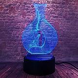 wangZJ 3d Illusion Lampe / 7 Changement de couleur Télécommande Night Light/enfant...