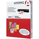 ACROPAQ pochettes de plastification A6 - 100 microns - Transparant - Pack de 100