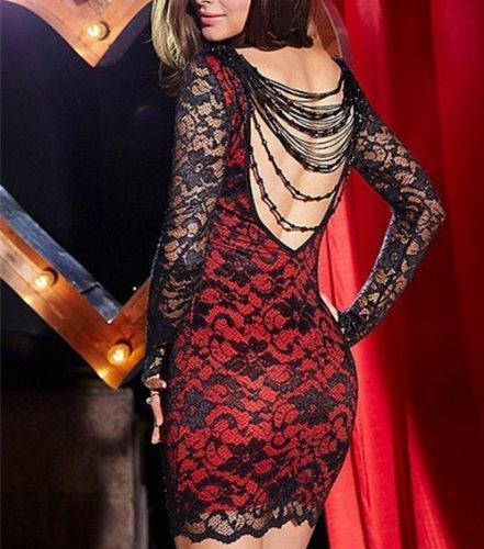 Qiyun–Robe pour femme Rouge