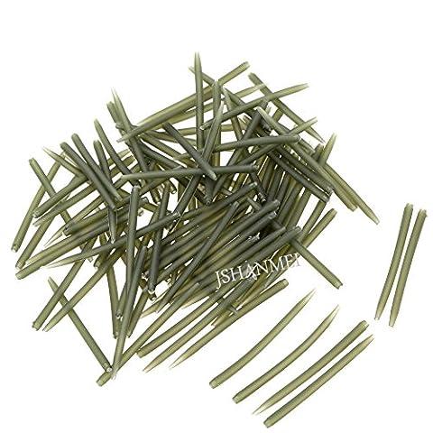Karpfenangeln Hakenhülse von Jshanmei®, Anti-Verknoten-Hülsen, 70% hart, Karpfen-Köder, Length-54MM