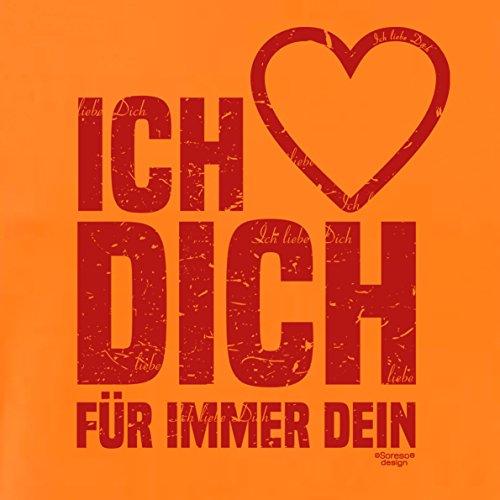 Modisches Oster-Geschenk / T-Shirt für Männer mit Print Aufdruck: Ich liebe Dich Farbe: orange Orange