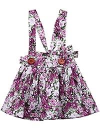 CHRONSTYLE Vestido Niña, Faldas para Bebé Niña Tiene 0-6 Meces Diseño de Floral