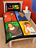 Character World 135 x 200 cm JLS Jukebox Single Panel Duvet Set, Multi-Colour