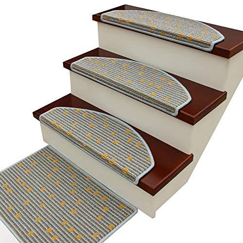 YHEGV Flächenteppich Rutschfeste, waschbare Innentreppenauflage für Holztreppen mit klebstofffreier Selbstklebender Rückseite, 2,1 x 0,8 ft (Farbe: # 3, Größe: 1 Stück) -