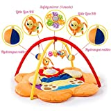 LULU Lernspielzeug|Baby-Spieldecke|Musikalisches Spielzeug|Vollmondgeschenk|0-2 Jahre Alt|90 * 90 * 50 cm,A