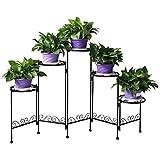 HLC- 5 niveles Soporte para los bonsáis, plantas, flores, adecuados para interior y exterior, Nuevo Diseño!--negro