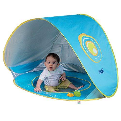 Ludi Piscine Multifonction Tissu avec Protection UV 50 – Dès la Naissance – Tente Composée d'Une Piscine...