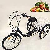 """Best triciclos para adultos - TFCFL 24"""" Triciclo de 3 Ruedas para Adultos Review"""