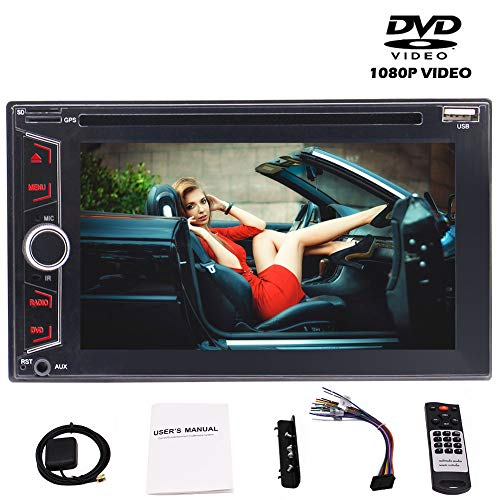 EINCAR 6.2 '' Capative Touch-Screen-Doppel-DIN-Autoradio Autoradio Stereo- mit bunten Button 3 Typ Win 8 UI Unterstützung GPS Navigation/Bluetooth/AUX/USB/SD/SWC/FM AM RDS Radio/Auto-DV