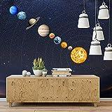 bozitian Luminoso Etiqueta de Pared 9-Planet Sistema Solar Patrón Etiqueta de Pared Decoración de Pared para niños Dormitorio Sala de Estar Cuarto para bebés, Ilumine el Techo