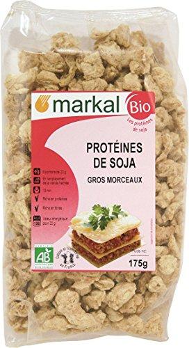 Proteínas de soja orgánica - en trozos | 175g | Markal