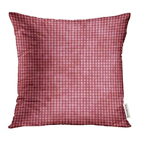 Dekokissenbezug Girly Pink Gingham Antique Baby Curtains Damask Decorative Pillow Case Home Decor Square 18x18 Inches Pillowcase (Werfen Eines Baby-halloween-party)