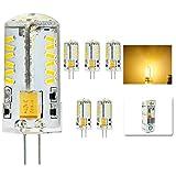 mengjay® 5 Stück - 4Watt G4 LED Leuchte 57 SMD 3014 LED Lampe leuchtmittel warmweiß,AC/DC12V