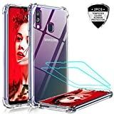 LeYi for Samsung Galaxy A40 Case with Tempered Glass