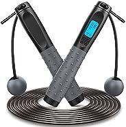 Corda per Saltare, Professionale Corda Crossfit con Silicone Antiscivolo Maniglia e Cuscinetti a Sfera, Aggior