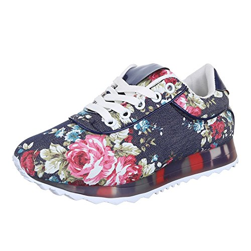 Ital-Design , Chaussures pour les loisirs  femme Multicolore - Blau Multi