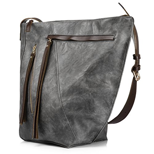 Eimer tasche für frauen handtasche crossbody tasche reisetasche multi pocket mit großer kapazität mit langen tassel (Tasche Eimer Handtasche)