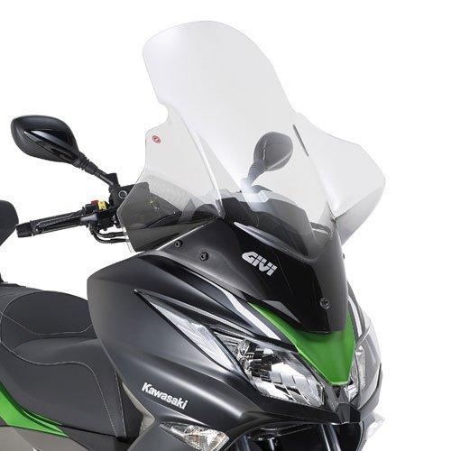 Cupolino Spoiler GIVI 4111DT con Kit di Fissaggio D4111KIT Kawasaki J300 2014 - Parabrezza Spoiler