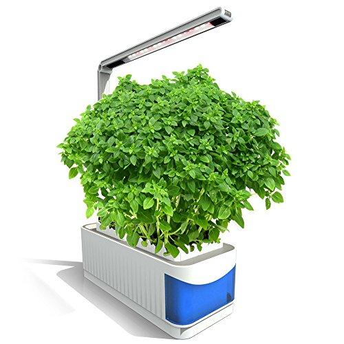 Decdeal Hydroponische Anzuchtsysteme LED Pflanzenlampe Kit Intelligente Kräutergarten-Set für Hydroponik Zimmerpflanzen Blumen und Gemüse
