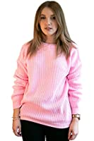 Ladies Oversized Baggy Jumper Knitted Womens Sweater ChunkyThick Knit Top