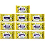 Wippee 30N Usable Baby Wipes With Almond Oil ( Pack Of 10)
