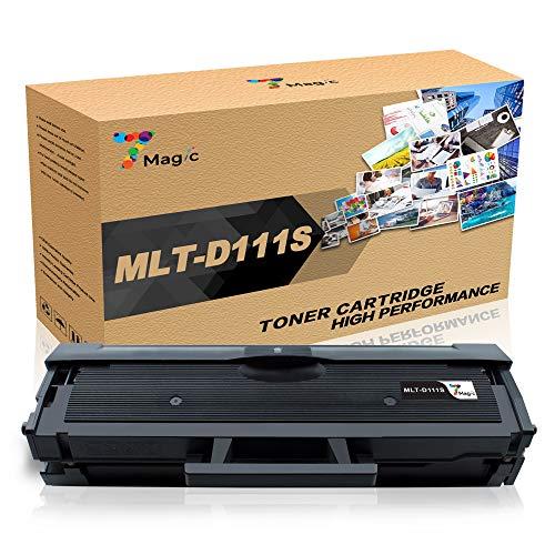 7Magic MLT-D111S, Compatibile per Samsung MLT-D111S ELS Cartuccia del Toner, Compatibile per Samsung Xpress SL M2070 M2026 M2070W M2026W M2070FW M2020 M2022 M2020W M2022W Stampante(2 Nero)