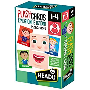 Headu Flashcards Montessori Emotions y Acciones 1-4 años