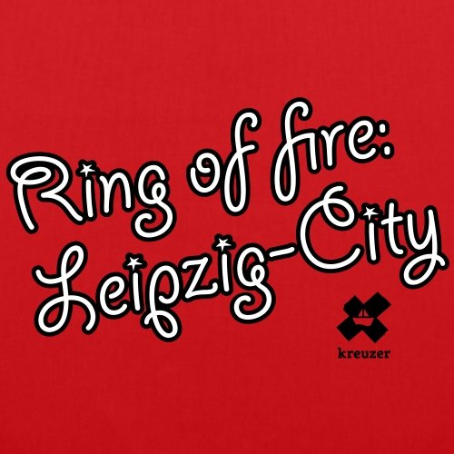Spreadshirt Leipzig City Stoffbeutel Rot
